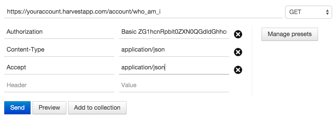 HTTP Basic Authentication – Harvest API V1 Documentation